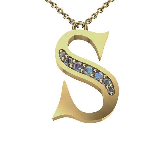S- Alphabet Pendant