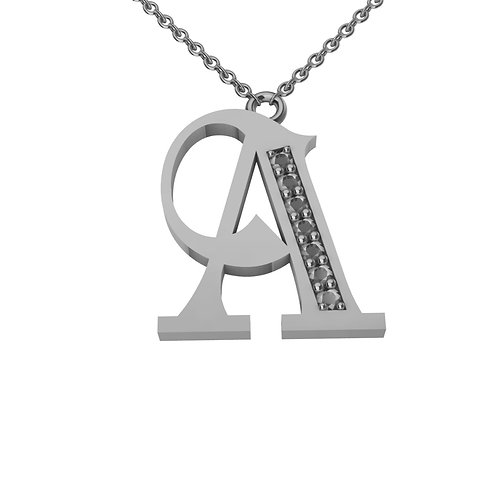 A - Alphabet Pendant