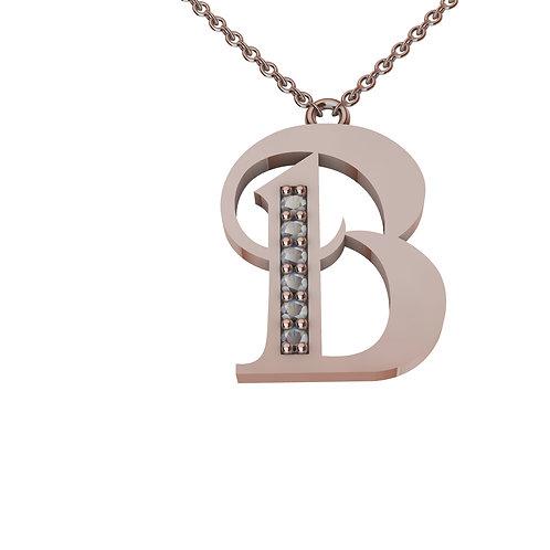 B - Alphabet Pendant