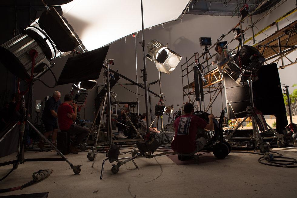 On-set behind the scenes