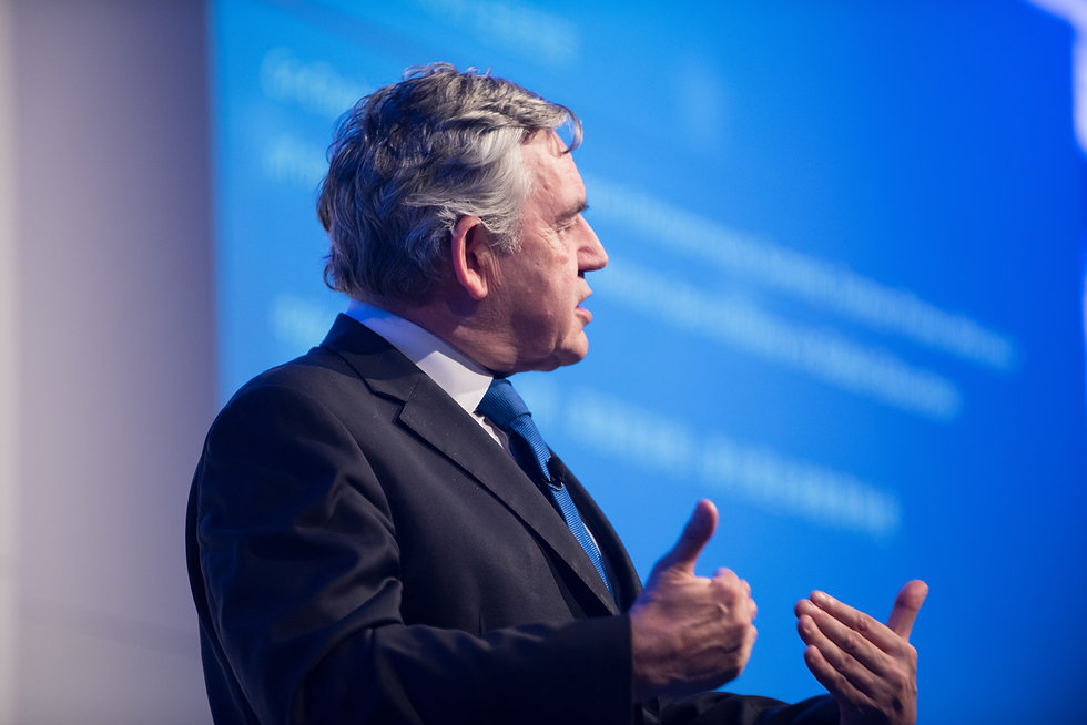 Gordon Brown at a charity event