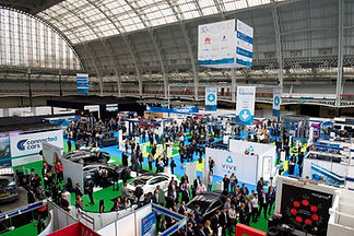 Wide shot of exhibition hall from a live event
