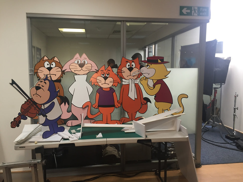 Top Cat and the gand for the Halifax commercial making of