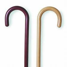 Solid Color Wood Offset Canes - Various colors