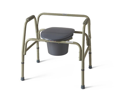 650 lb Cap, Extra-wide Heavy Duty Bariatric Commode