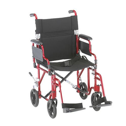 "Lightweight Transport Chair, Detachable Arms, 19"""