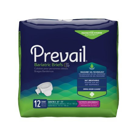 Prevail Bariatric Unisex Adult Incontinence Brief (PV017, PV094)