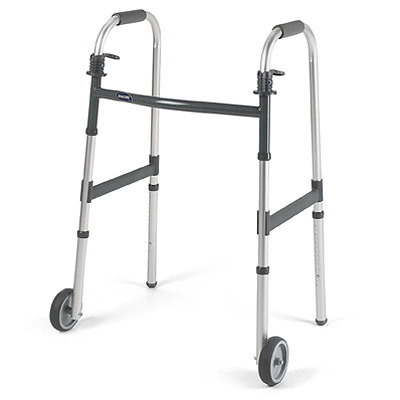 Walker with Wheels, Folding, Adjustable