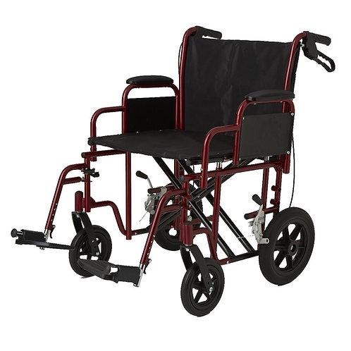 "Medline Bariatric 22"" Transport Chair"