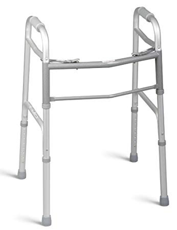 Walker With No Wheels, Folding, Adjustable