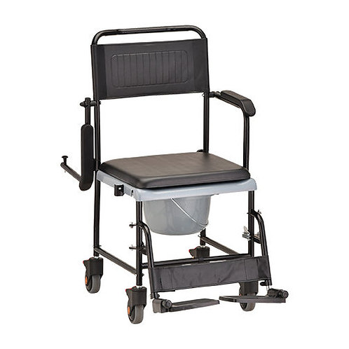 Drop Arm Transport Chair Commode