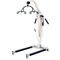 Electric Patient Lift with Rechargeable Battery, White