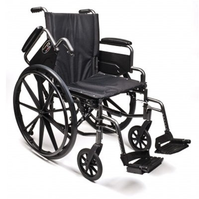 "Everest & Jennings Traveler L4 Lightweight 16"" & 18"" Wheelchair"