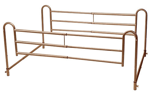 Home Bed Style Adjustable Length Bed Rails, Pair