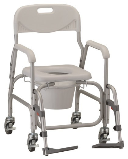 Padded Rolling Commode Shower Chair