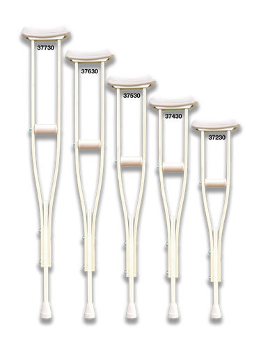 """Traditional Crutches- Adjustable 4'0"""" - 6'6"""""""
