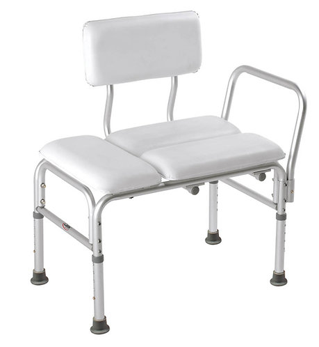 Padded Transfer Bench with back
