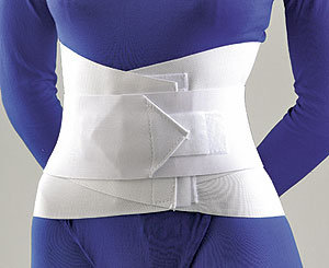 LUMBAR SACRAL SUPPORT WITH OVERLAPPING ABDOMINAL BELT 10""