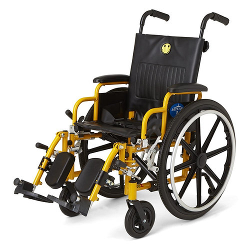 "PEDIATRIC / CHILD KIDS WHEELCHAIR - 14"" Seat Elevating Leg Rests"