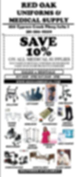 Coupon for Red Oak Uniforms & Medical Supply, Houston TX