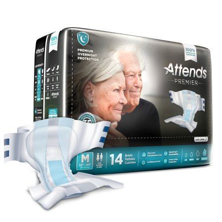 Attends Premier Unisex Adult Incontinence Brief