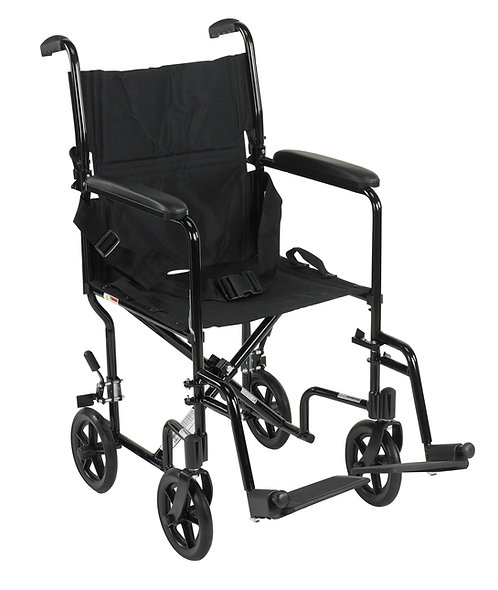 "17"" Lightweight Transport Wheelchair"