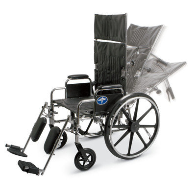 Reclining Back Wheelchair with Elevating Legrests