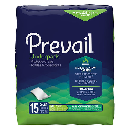 "Prevail Disposable Underpad Fluff 23 X 36"" (UP-150)"