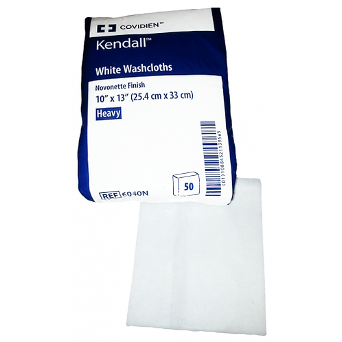 Kendall Heavy White Washcloths - Unscented