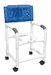 PVC Rolling Shower chair with wheels