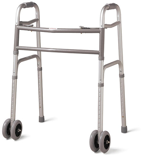 Bariatric Walker with Wheels, Folding, Adjustable