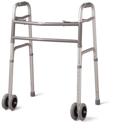 Heavy Duty Wide Walker w/ wheels, 500 lbs