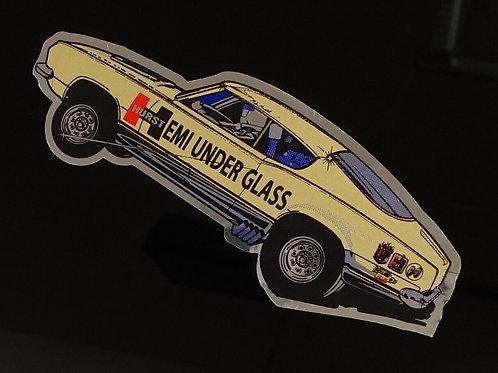 Hemi Under Glass Wheelstander Decal Sticker