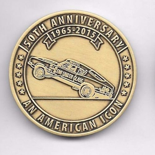 Hurst Hemi Under Glass Wheelstander 50th Anniversary Coin