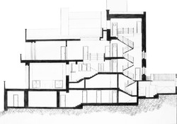 Muller House - Section Drawing