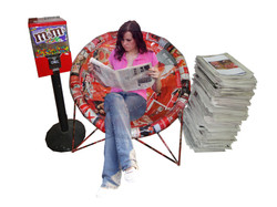 PapeChair - using recycled materials