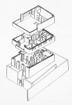 Muller House-Exploded Isometric Draw