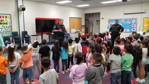 Constable Ballesteros Visited Children At Cook Elementary For Child Abuse Awareness Month