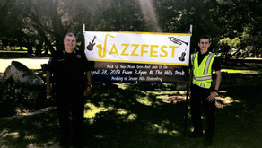 Constables And Explorers Enjoy The Music at Jazzfest