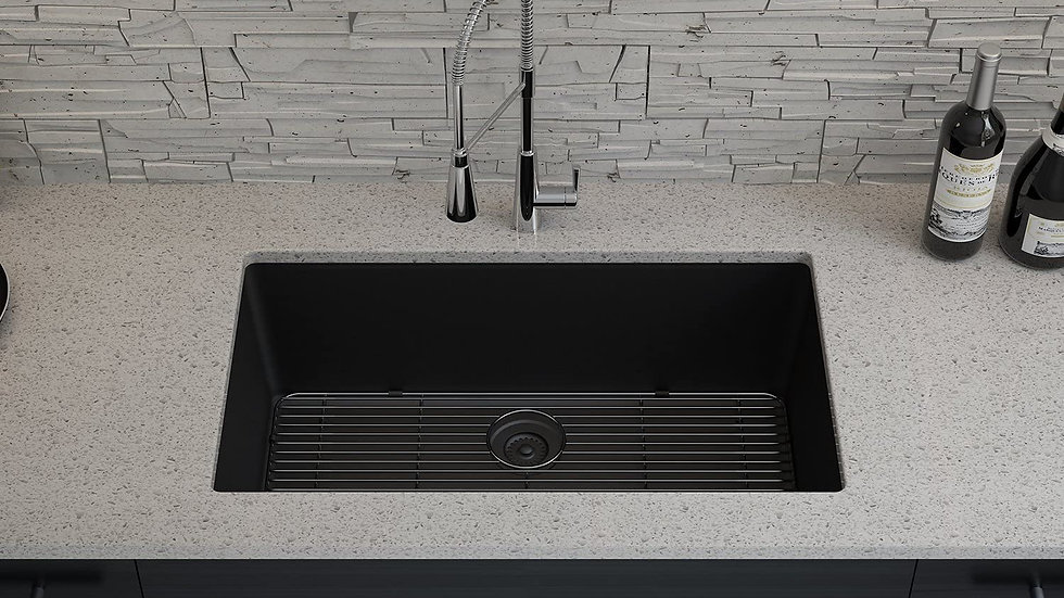 Black Lexicon Quartz Kitchen Sinks