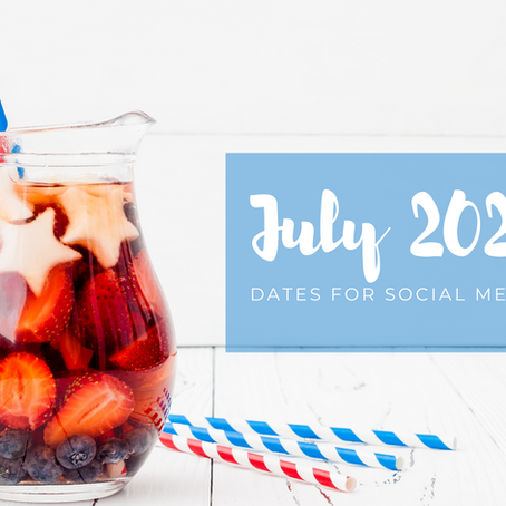 July 2021 Dates for Social Media