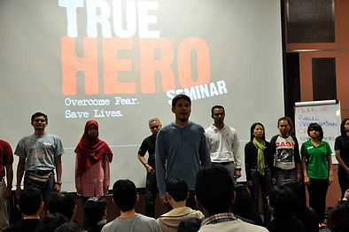 My True Hero Seminar participants in action Singapore First Aid Training Centre