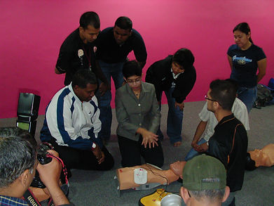 CPR AED Training with A/Prof Fatimah Lateef and Sheikh Alauddin Silat Federation Singapore