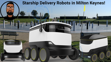 Starship Delivery ROBOTS in Milton Keynes! Is this the Future?
