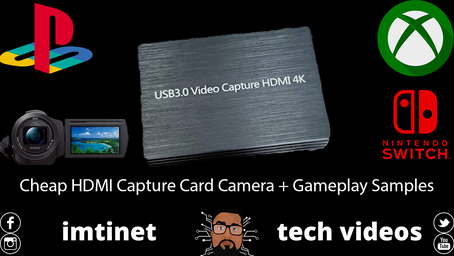 Cheap HDMI Capture Card for Xbox, PS4 & Cameras! Part 2 (With Camera + Gameplay Samples)
