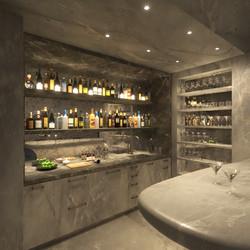 condo 1 - custom stone bar