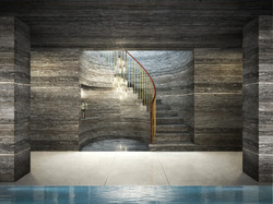 london condos - pool stair concept
