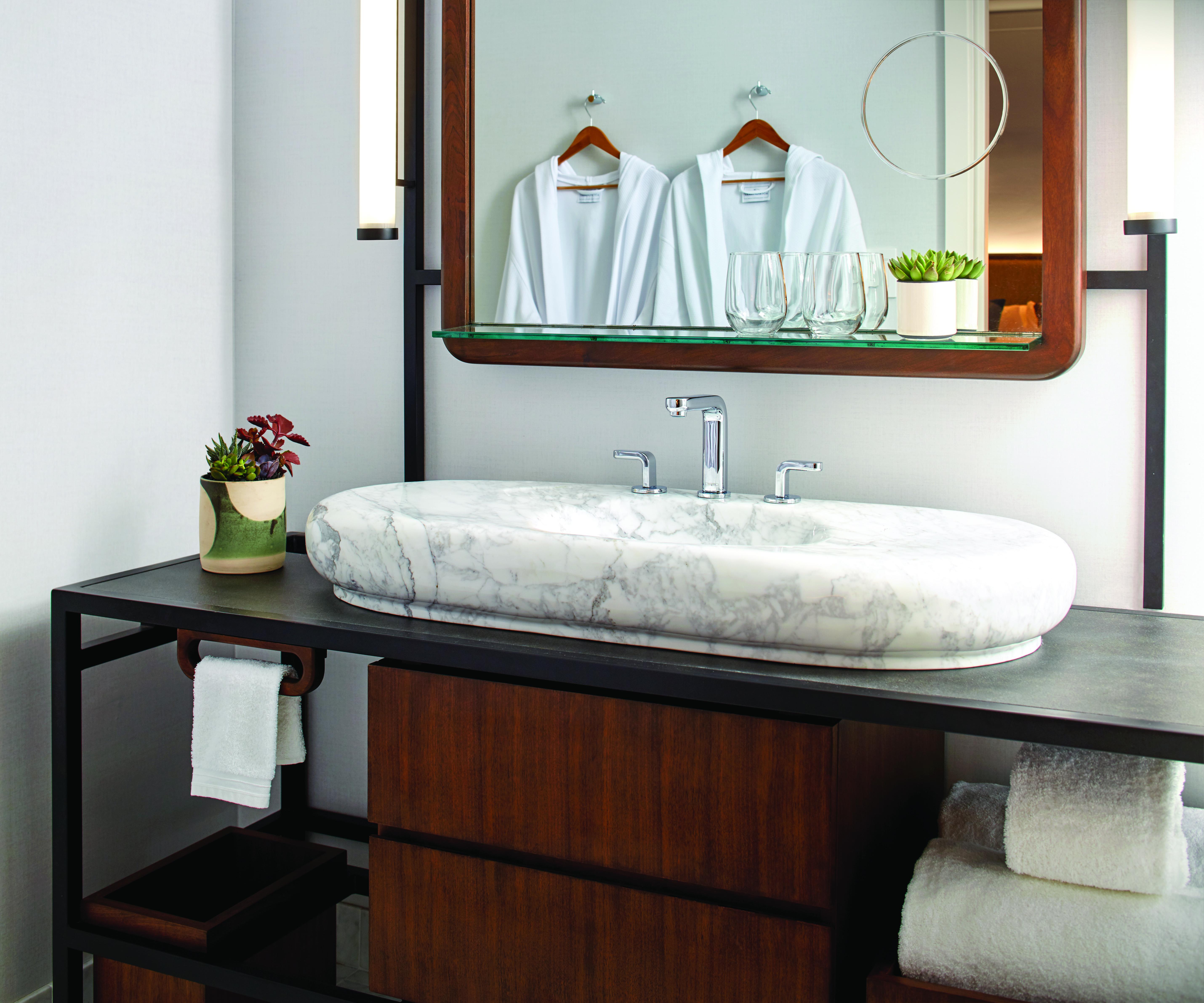 james hotel - bathroom vanity detail