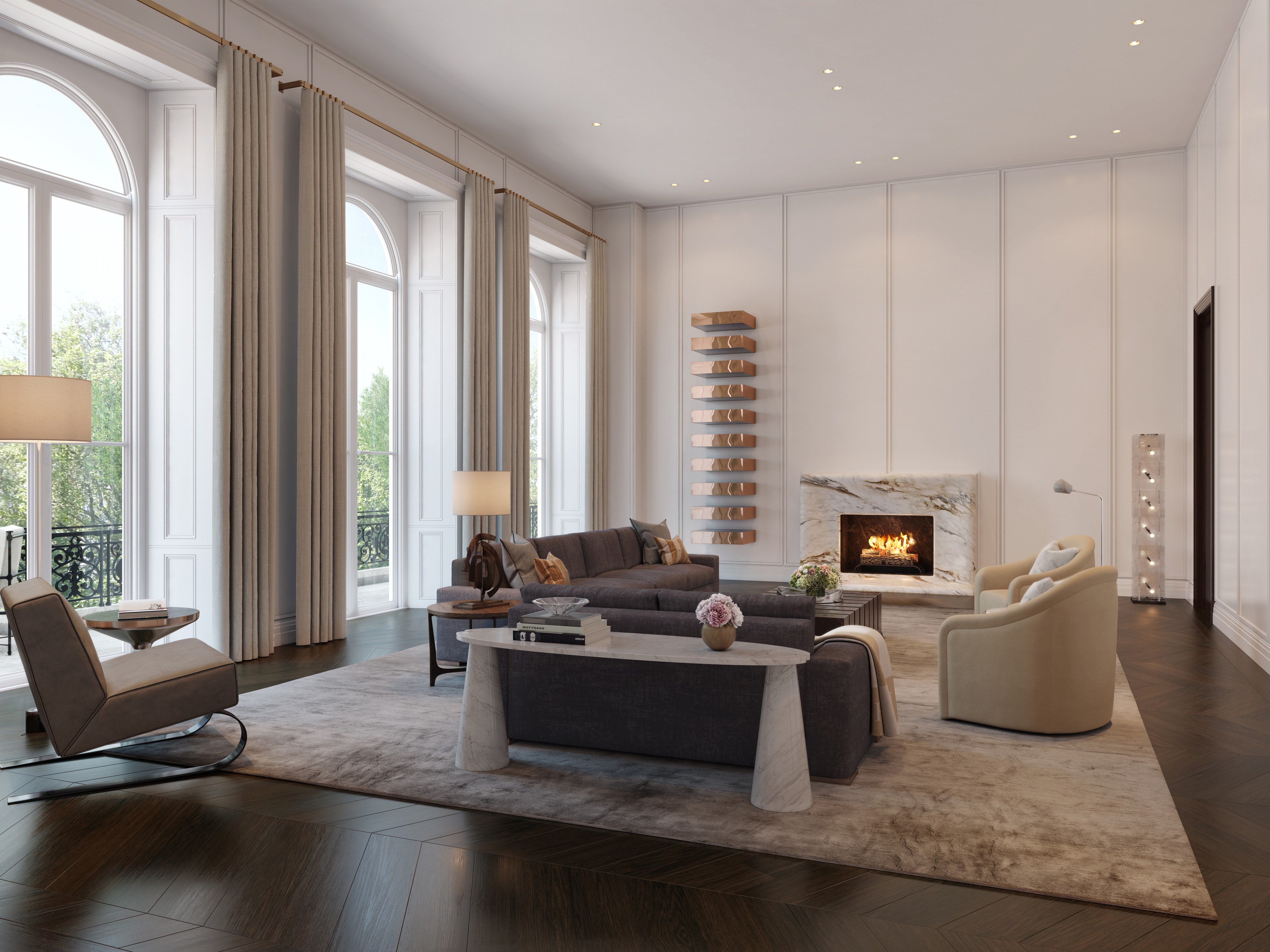 london condos - living room
