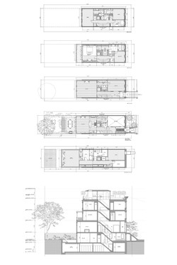 townhouse plans and section